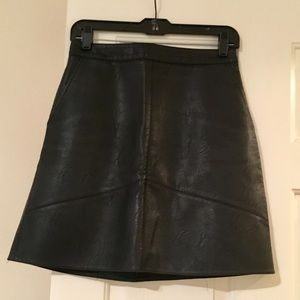 Zara faux leather Skirt💕