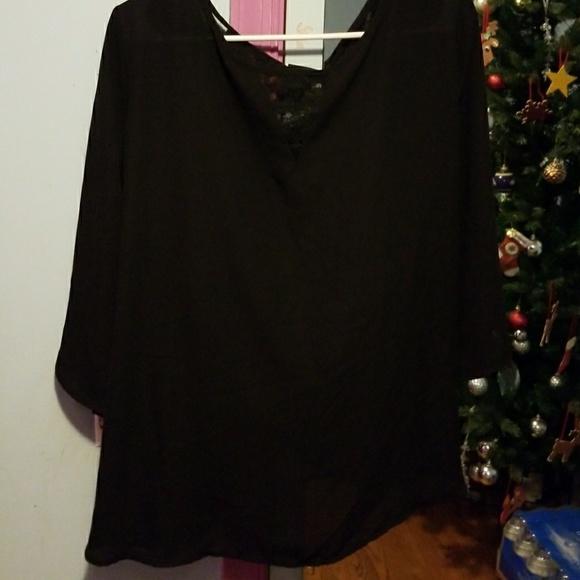 79% off torrid Tops - TORRID Dressy Black Shirt from Amber's ...