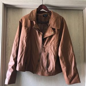 New Look Caramel Faux Leather Jacket