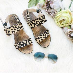 Dolce Vita Calf-hair Leopard sandals