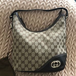 Gucci Monogram Medium Hobo Bag