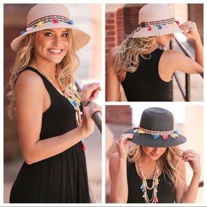 Infinity Raine Accessories - Infinity Raine Fun in the Sun straw tassel hat