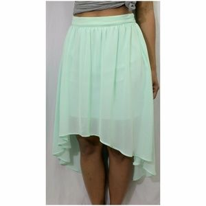 High-Low Mint Green Forever 21 Skirt size M