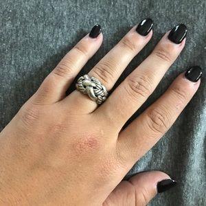 David Yurman silver knot ring, barely worn