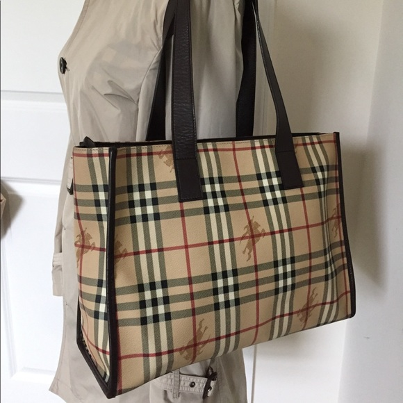 Burberry Handbags - Rare Authentic Burberry haymarket check large tote cee393633d