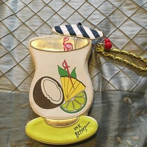 Handbags - Betsey Johnson piña colada wristlet