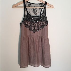Miss me Camisole with lace and sequins, stunning.