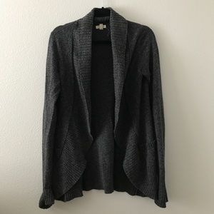 Silence + Noise marled gray cardigan sweater