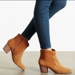 New Sole Society chestnut ankle booties so-romy