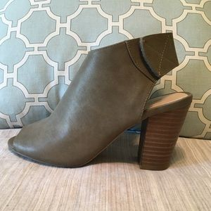 Chinese Laundry peep-toe booties, 7.5