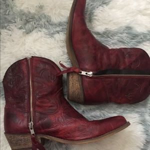 Shoes - Red Authentic Cowgirl Boots - Perfect for Fall