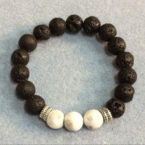 Jewelry - Lava n Howlite Stretch
