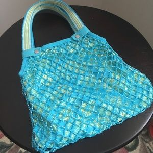 Aqua and turquoise beaded bag!