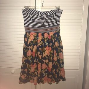 Xhilaration Strapless Floral Dress