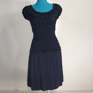 M.S.S.P Max Studio Specialty Products navy dress