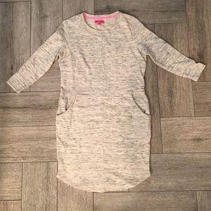 🎀Betsey Johnson Marl sweatshirt pocket dress S