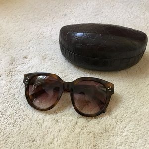 Celine Audrey tortoise sunglasses