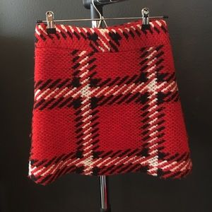 TopShop Red plaid skirt