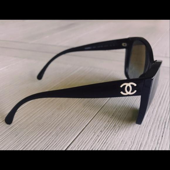 83f7a757d21 CHANEL Accessories - Chanel 5203 Black Sunglasses with Glitter Lenses