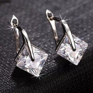 Jewelry - Floating CZ Earrings