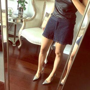 Club Monaco Navy Lace Shorts