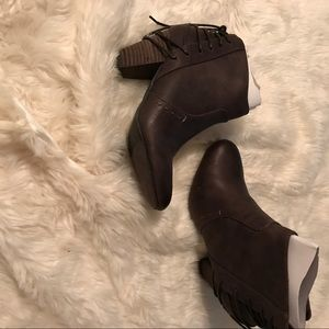 Report Milla ankle boots, brown, Sz 7.5