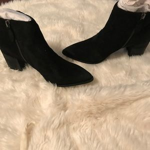 Report black suede ankle boots Sz 7.5