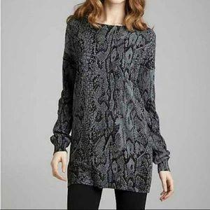 "BCBG ""Snakeskin"" printed sweater dress/tunic"