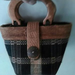 Unique natural fiber purse.