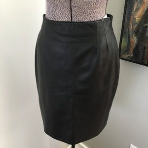 80's Vintage Butter Soft Leather Pencil Skirt 12