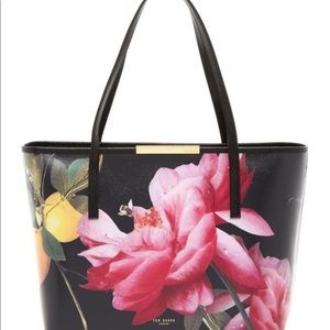 Ted Baker Joanie Citrus Bloom Leather Shopper