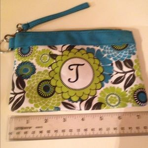 """Handbags - Cosmetic bag with letter""""J""""  no NAME"""