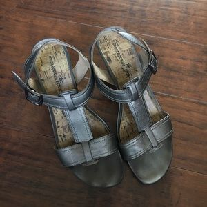 Montego Bay Club Silver Heeled Sandals