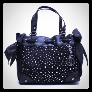 Juicy Couture Black Studded Plush Hand bag