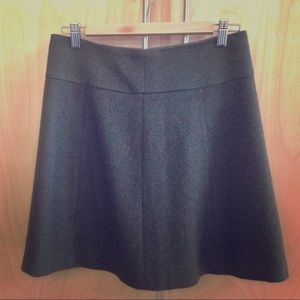 Olive green lambswool skirt