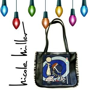 Nicole Miller Collection Vespa Girl Tote