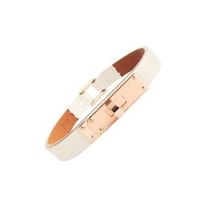 Hermes Micro Kelly Bracelet - White and Rose Gold