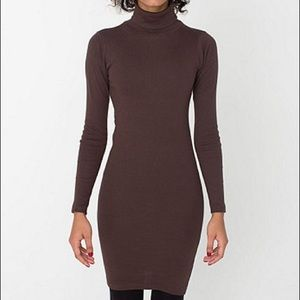 American Apparel Chocolate Brown Turtleneck Dress