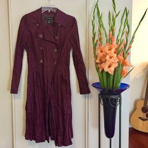 Calvin Klein Jeans Burgundy Coat Sz S