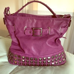 Melie Bianco Purple Studded Hobo Bag, LOVE THIS!💜