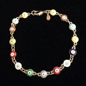 Joan Rivers Evil Eye Multicolor Line Bracelet