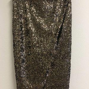 NWT Golden sequence skirt