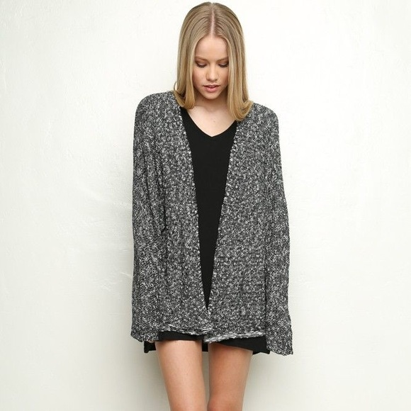 Brandy Melville - Brandy Melville dark grey speckled Cardigan from ...