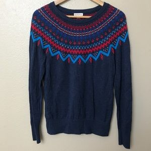 Merona Navy Sweater - Holiday Pullover Sweater