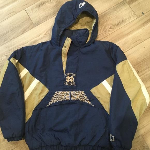 Vintage Notre Dame Starter Jacket