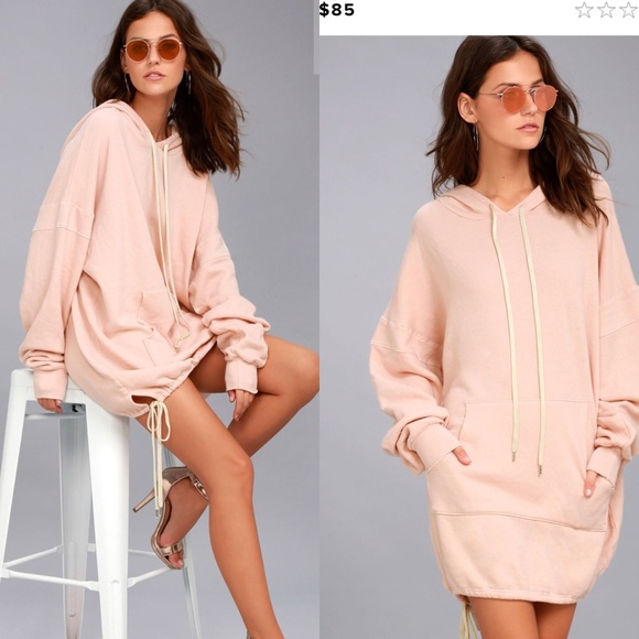 abae1bdb630 Project Social T Light Pink Hooded Dress