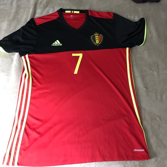 pick up 01ccc f4815 Belgium Jersey #7 Kevin De Bruyne Authentic Jersey