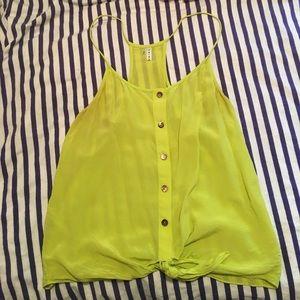 Trina Turk bright green L top