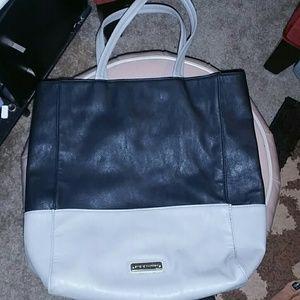 Steve Madden Large Black & Gray Bag