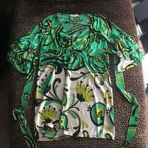 Betsey Johnson Floral Ruffle Tunic Dress